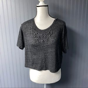 Women's hollister short sleeve crop tee top xs